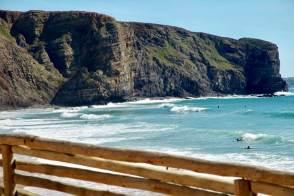 Praia Arrifana cliffs