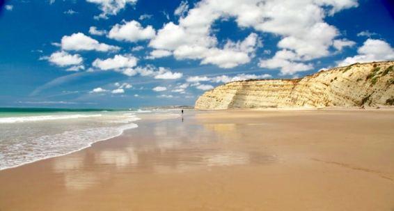 Praia Porto de Mos blue sky