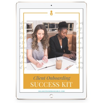 iPad with workbook cover - As a business coach, onboarding a new client can be a nightmare. But it doesn't have to be.