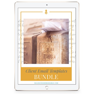 iPad with workbook cover - Client Email Templates Bundle
