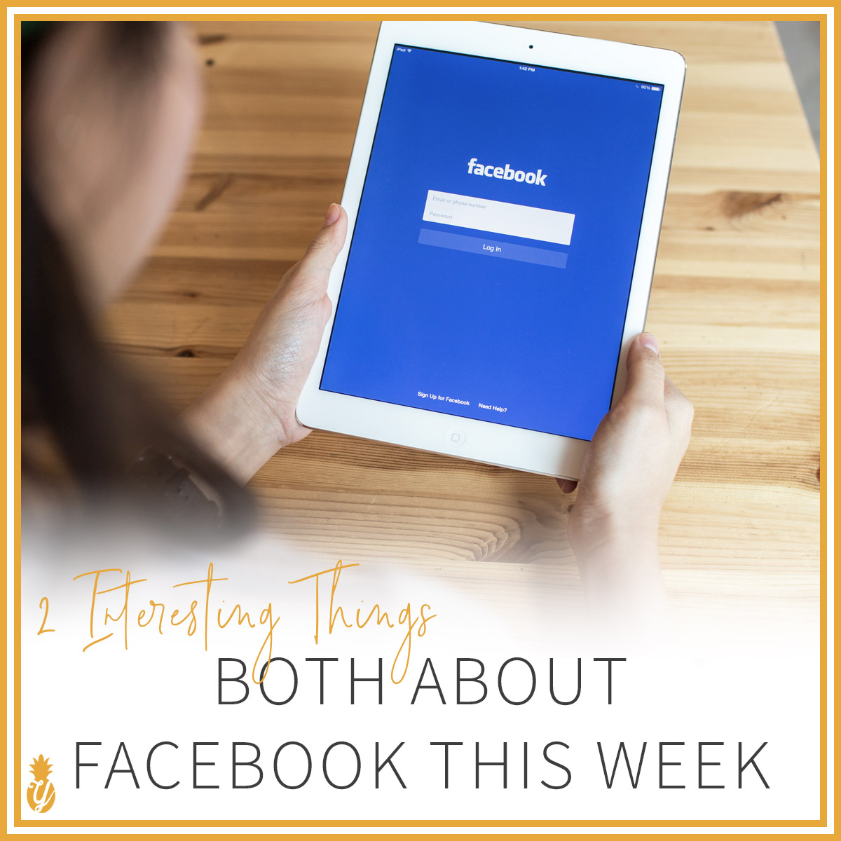 2 Interesting Things, both about Facebook this week