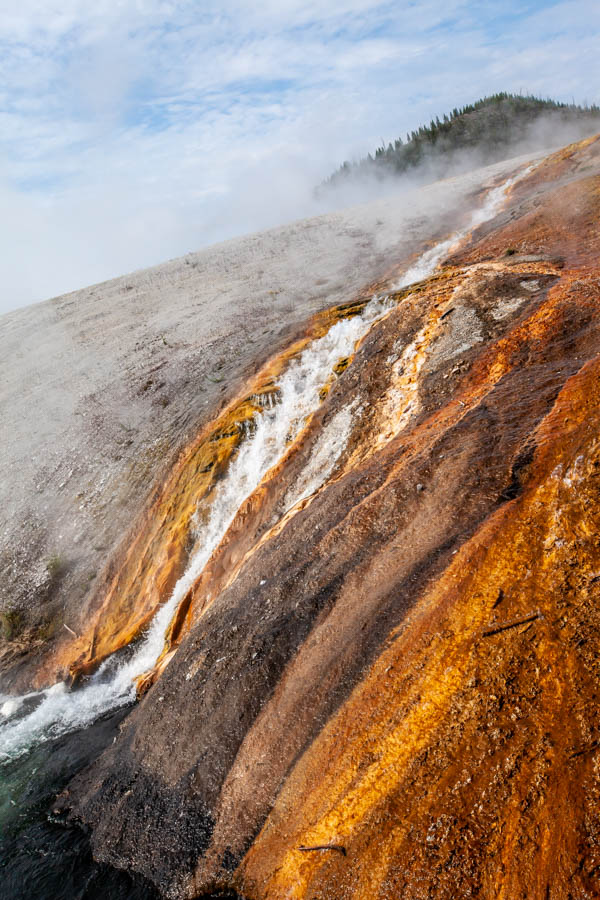 Firehole River next to the hike to the Grand Prismatic Spring in Yellowstone National Park #vezzaniphotography