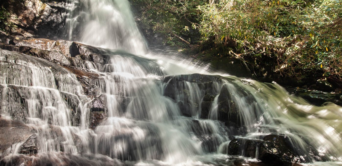 Hiking to Laurel Falls at Great Smoky Mountains National Park