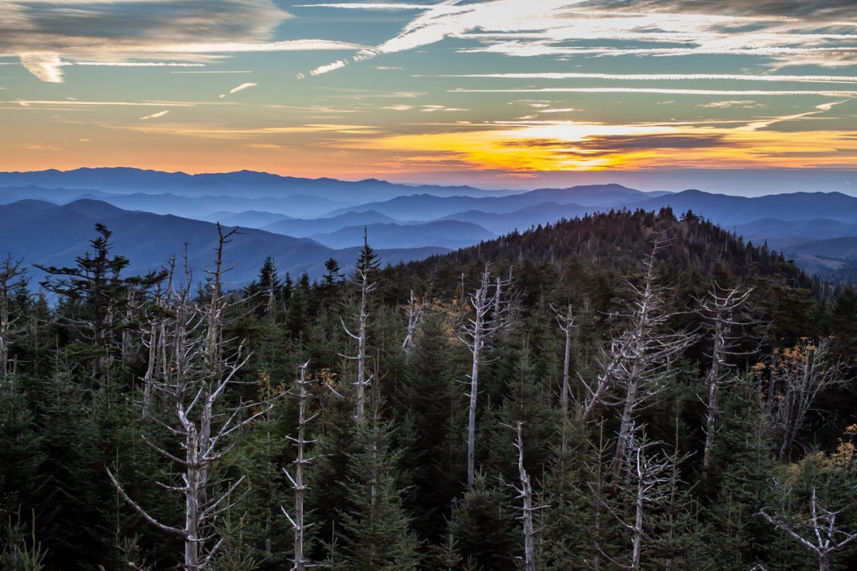 Clingmans Dome Sunset at Great Smoky Mountains National Park located off of Newfound Gap Road #vezzaniphotography