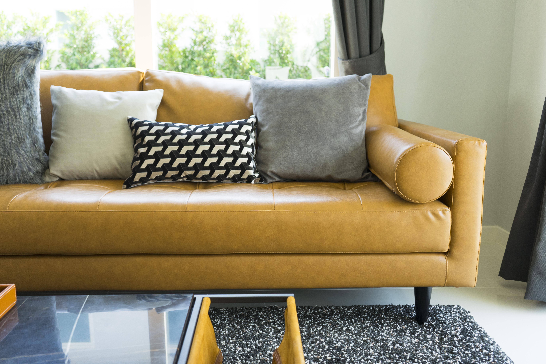 https homeguides sfgate com fill leather sofa cushions sewn frame 102624 html