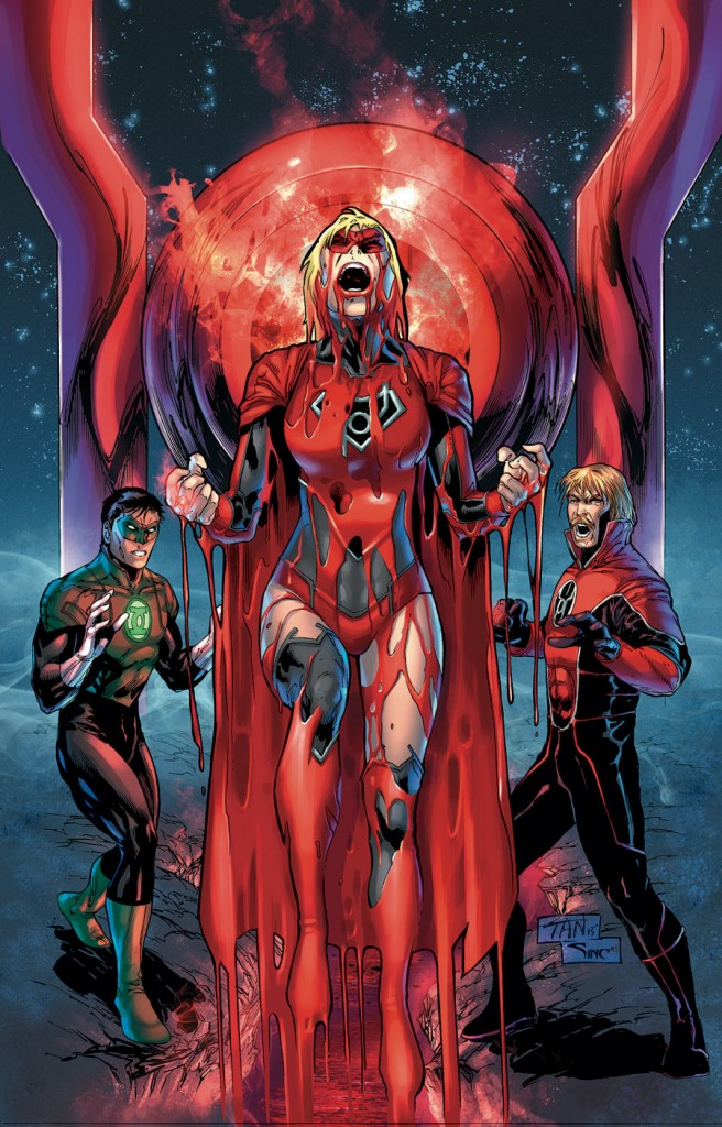 Supergirl joins the Green Lantern universe in February's issue. Cover art by Billy Tan.