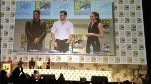 The stars of Batman v Superman: Dawn of Justice at the Warner Bros panel in Hall H of San Diego Comic Con