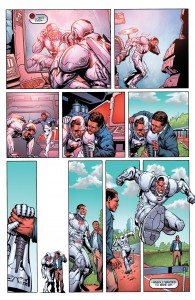 Secret Origins 5 - Cyborg - Victor's father helps rehabilitate him