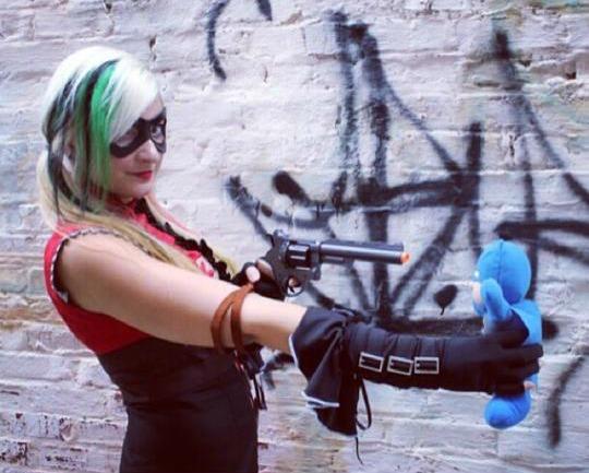 Adrienne Brynteson as Harley Quinn at Dragon Con 2014