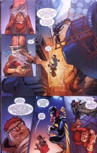 Batman Eternal 27 Batgirl dropping Bard