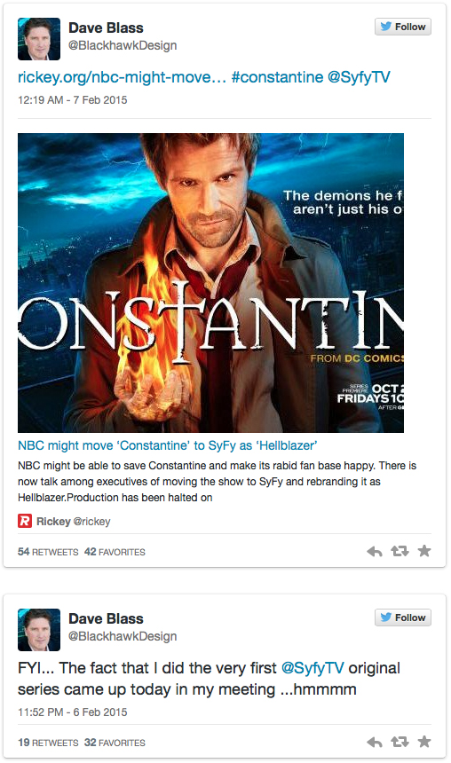 Constantine's Not Dead? Possible Move to SyFy - DC Comics News
