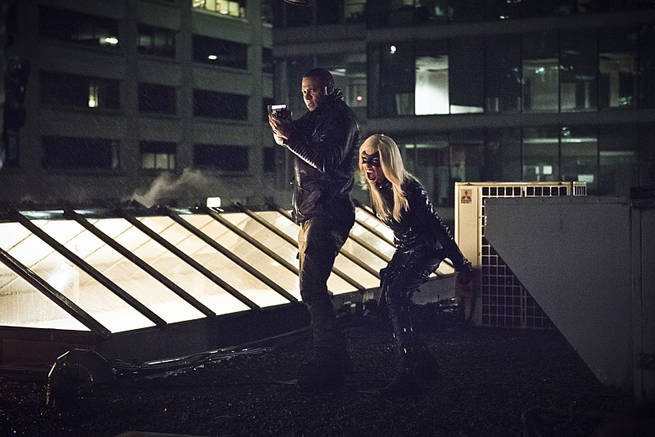 "Arrow -- ""Al Sah-Him"" -- Image AR321A_0247b -- Pictured (L-R): David Ramsey as John Diggle and Katie Cassidy as Black Canary -- Photo: Dean Buscher/The CW -- © 2015 The CW Network, LLC. All Rights Reserved."