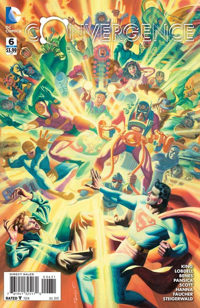 Convergence #6 variant cover (art by Steve Rude)