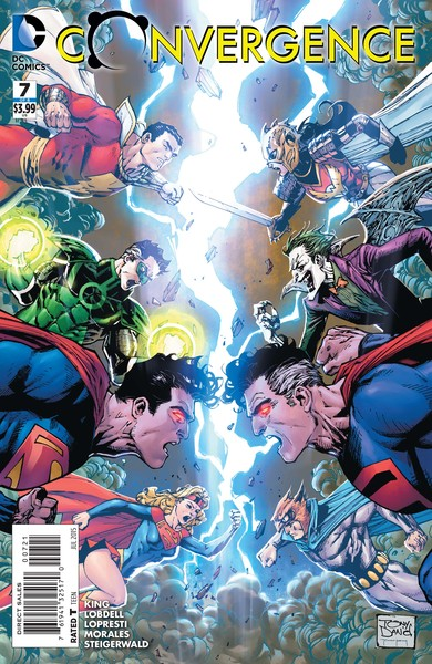 Convergence #7 variant cover (art by Tony Daniel with Mark Morales and Tomeu Morey)