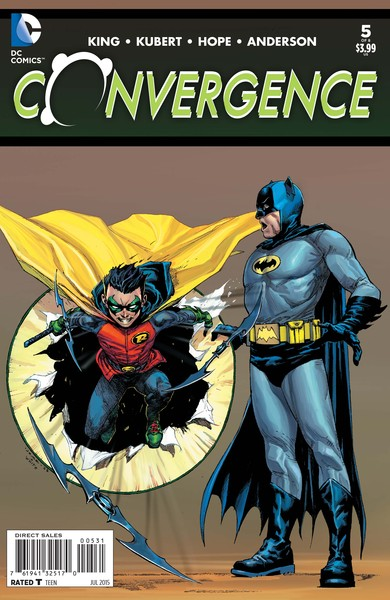 Convergence #5 variant cover (art by Jerome Opena with Dean White)