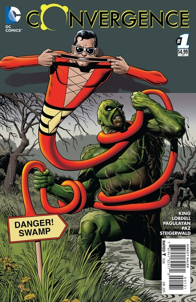 Convergence #1 variant cover (art by Brian Bolland)