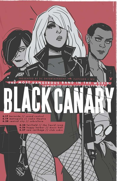 """""""Black Canary"""" 11"""" x 17"""" concert poster (Available June 17)"""