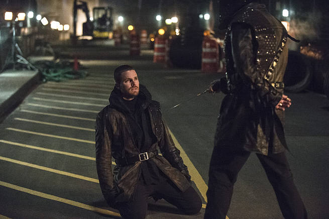 """Arrow -- """"My Name is Oliver Queen"""" -- Image AR323C_0179b -- Pictured: Stephen Amell as Oliver Queen -- Photo: Cate Cameron/The CW -- © 2015 The CW Network, LLC. All Rights Reserved."""