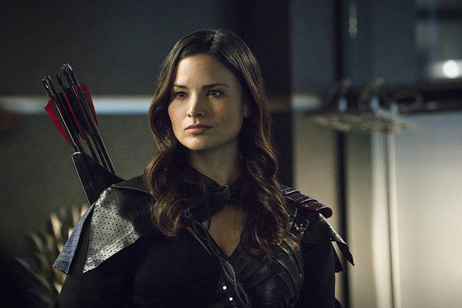 """Arrow -- """"My Name is Oliver Queen"""" -- Image AR323B_0329b -- Pictured: Katrina Law as Nyssa al Ghul -- Photo: Liane Hentscher/The CW -- © 2015 The CW Network, LLC. All Rights Reserved."""