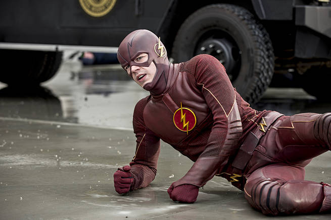 "The Flash -- ""Grodd Lives"" -- Image FLA121A_0085b -- Pictured: Grant Gustin as The Flash -- Photo: Cate Cameron/The CW -- © 2015 The CW Network, LLC. All rights reserved."