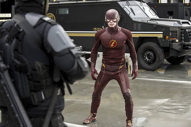 """The Flash -- """"Grodd Lives"""" -- Image FLA121A_0078b -- Pictured: Grant Gustin as The Flash -- Photo: Cate Cameron/The CW -- © 2015 The CW Network, LLC. All rights reserved."""