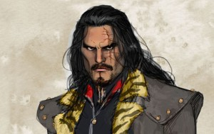 """An artist rendition of Vandal Savage as he may appear on The CW mid-season replacement """"DC's Legends of Tomorrow""""."""