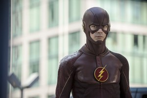 """The Flash -- """"The Man Who Saved Central City"""" -- Image FLA201c_0086b.jpg -- Pictured: Grant Gustin as The Flash -- Photo: Cate Cameron /The CW -- © 2015 The CW Network, LLC. All rights reserved."""