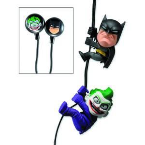 DC SCALERS 2IN BATMAN/JOKER EARBUDS $16.99