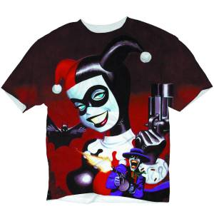 HARLEY QUINN MAD LOVE SUBLIMATED T/S SM