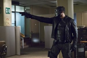 """Arrow -- """"Code of Silence"""" -- Image AR414A_0019b.jpg -- Pictured:  David Ramsey as John Diggle/Spartan -- Photo: Katie Yu/ The CW -- © 2016 The CW Network, LLC. All Rights Reserved."""