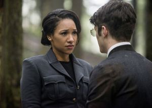 """The Flash -- """"Escape From Earth-2"""" -- Image FLA214b_0203b -- Pictured (L-R): Candice Patton as Earth 2 Iris West and Grant Gustin as Earth 2 Barry Allen -- Photo: Bettina Strauss/The CW -- © 2016 The CW Network, LLC. All rights reserved."""