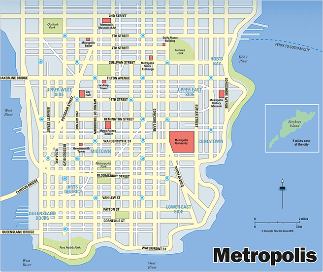 metropolis-map - DC Comics News