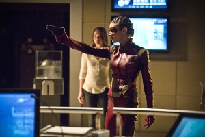 """The Flash -- """"Trajectory"""" -- Image FLA216b_0046b -- Pictured (L-R): Violett Beane as Jesse and Allison Paige as Trajectory -- Photo: Katie Yu/The CW -- © 2016 The CW Network, LLC. All rights reserved."""