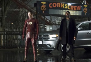 "The Flash -- ""Back to Normal"" -- Image: FLA219b_0004b.jpg -- Pictured (L-R): Grant Gustin as Barry Allen and Jesse L. Martin as Detective Joe West -- Photo: Katie Yu/The CW -- © 2016 The CW Network, LLC. All rights reserved."
