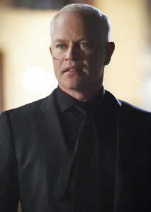 """Arrow -- """"Schism """" -- Image AR423b_0152b.jpg -- Pictured: Neal McDonough as Damien Darhk -- Photo: Bettina Strauss/The CW -- © 2016 The CW Network, LLC. All Rights Reserved."""