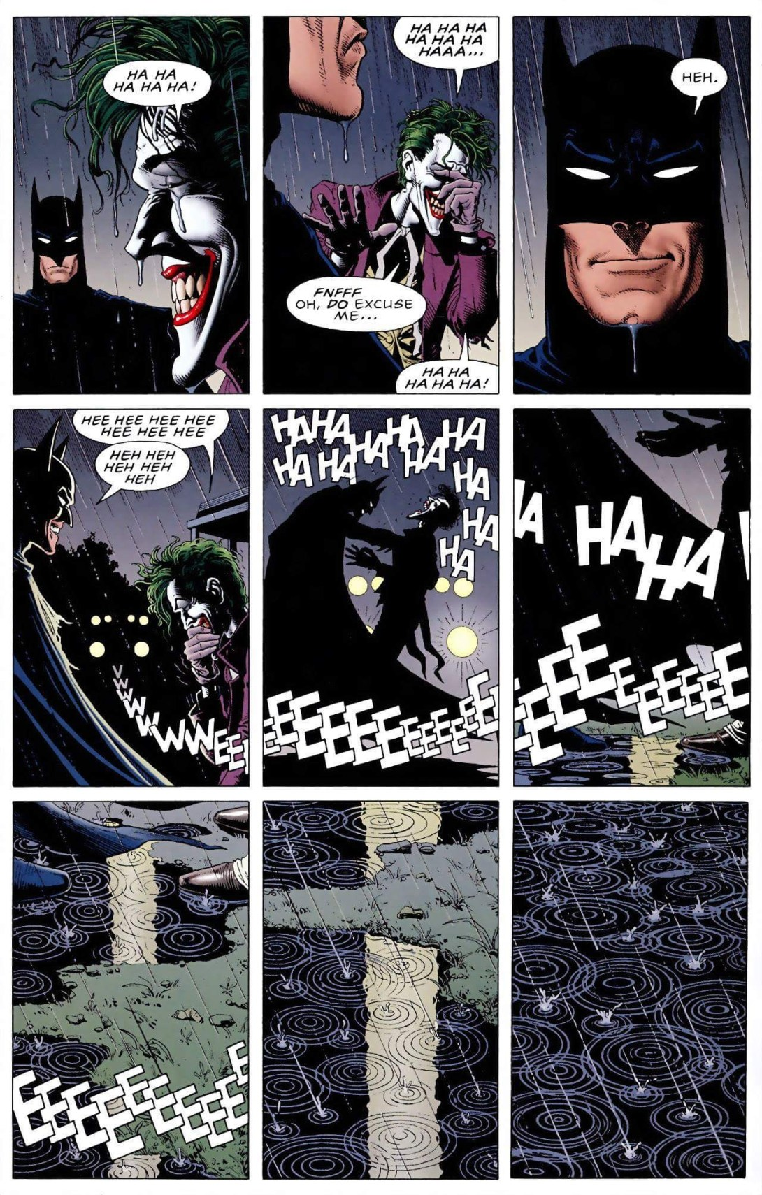 The ending page of the 1988 comic 'The Killing Joke'