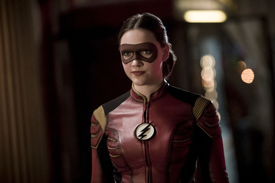 """The Flash -- """"The New Rouges"""" -- Image FLA304b_0242b.jpg -- Pictured: Violett Beane as Jesse Quick -- Photo: Katie Yu/The CW -- © 2016 The CW Network, LLC. All rights reserved."""