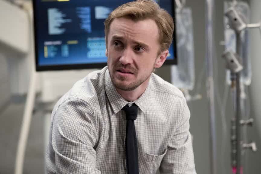 "The Flash -- ""Abra Kadabra"" -- FLA318c_0169b.jpg -- Pictured: Tom Felton as Julian Albert -- Photo: Jack Rowand/The CW -- © 2017 The CW Network, LLC. All rights reserved."