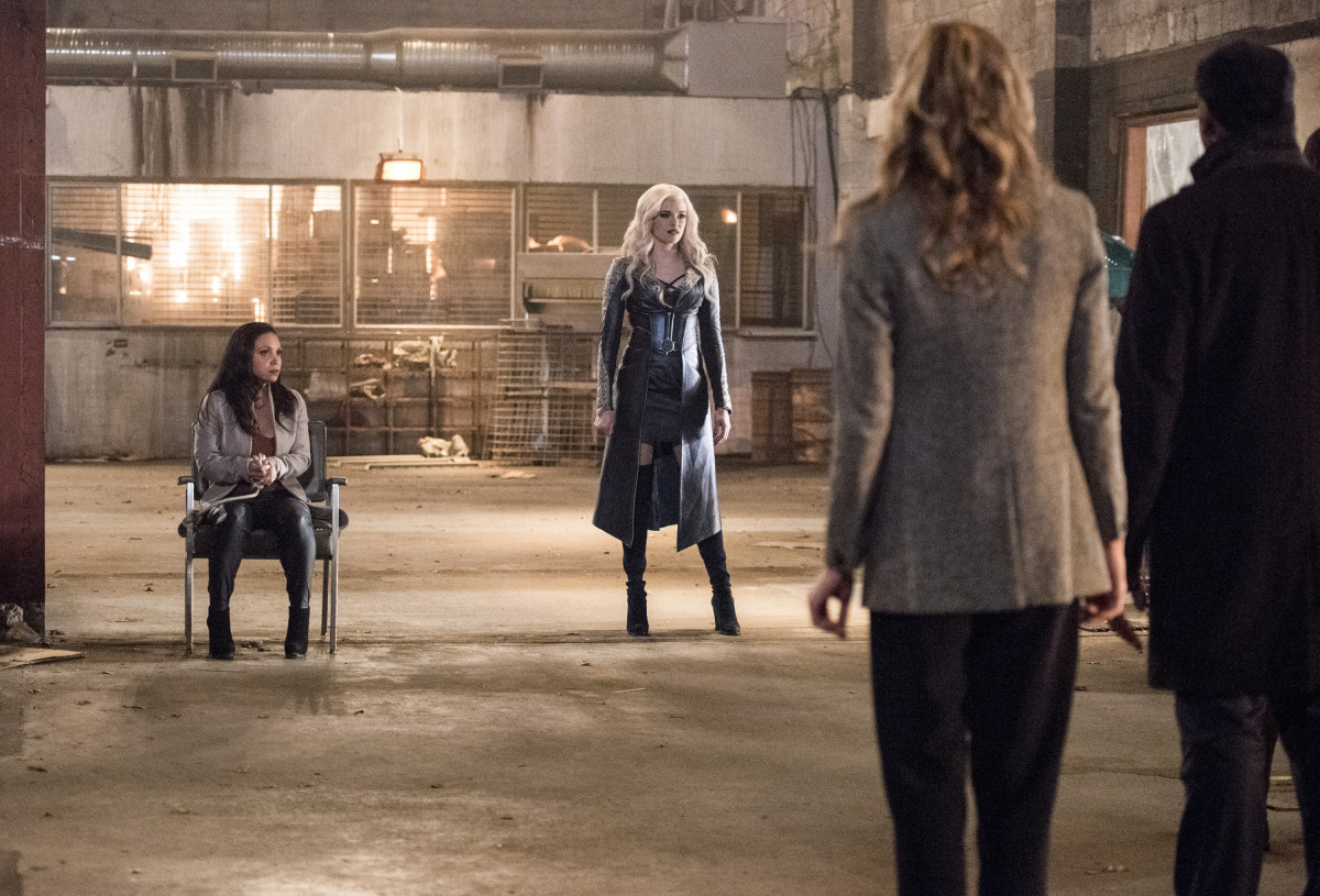 "The Flash -- ""I Know Who You Are"" -- FLA320b_0350b.jpg -- Pictured (L-R): Danielle Nicolet as D.A. Cecile Horton and Danielle Panabaker as Killer Frost -- Photo: Dean Buscher/The CW -- © 2017 The CW Network, LLC. All rights reserved."