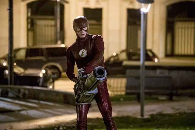 """The Flash -- """"Infantino Street"""" -- FLA322c_0008b.jpg -- Pictured: Grant Gustin as Barry Allen -- Photo: Katie Yu/The CW -- © 2017 The CW Network, LLC. All rights reserved."""
