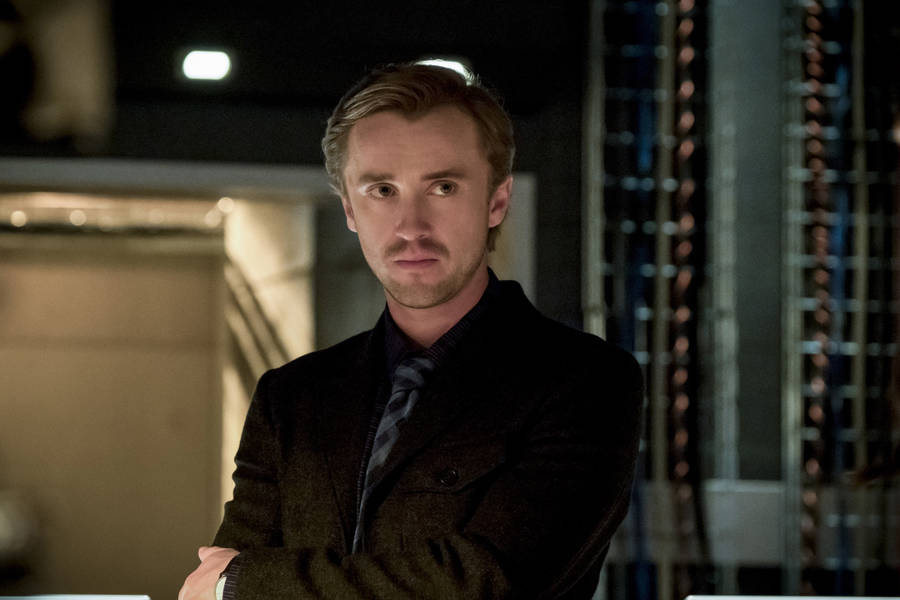 """The Flash -- """"Finish Line"""" -- FLA323b_0205b.jpg -- Pictured: Tom Felton as Julian Albert -- Photo: Katie Yu /The CW -- © 2017 The CW Network, LLC. All rights reserved."""