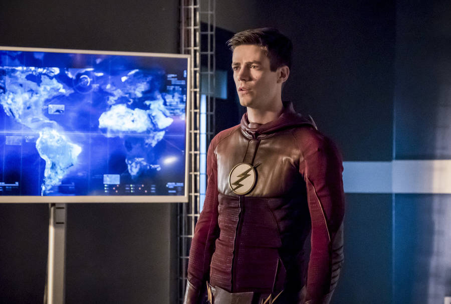 """The Flash -- """"Finish Line"""" -- FLA323b_0187b.jpg -- Pictured: Grant Gustin as Barry Allen -- Photo: Katie Yu /The CW -- © 2017 The CW Network, LLC. All rights reserved."""