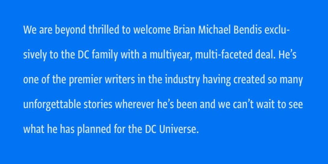 Bendis - DC Comics News
