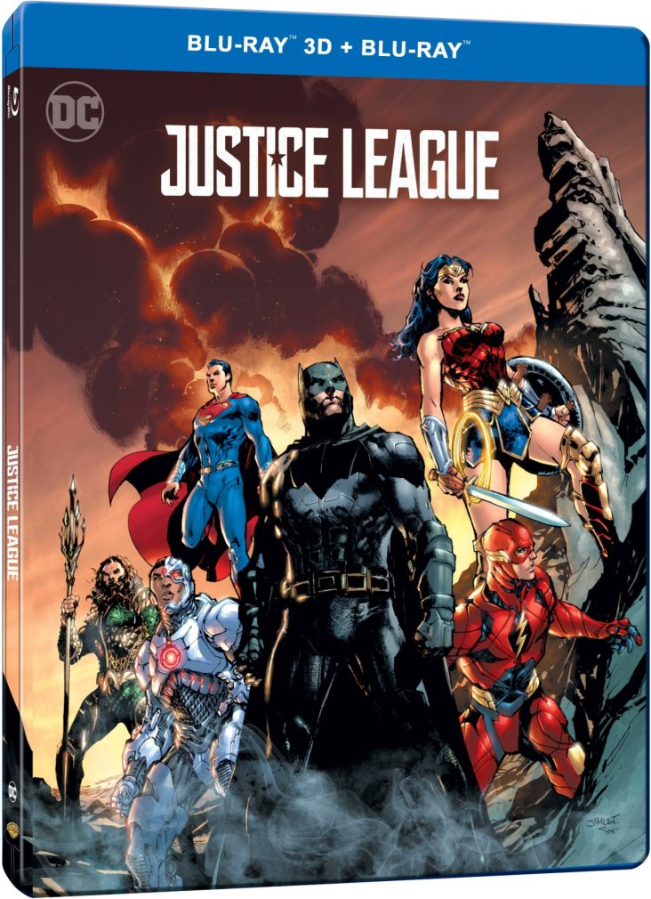 Jim Lee original art for JUSTICE LEAGUE Blu-ray release.