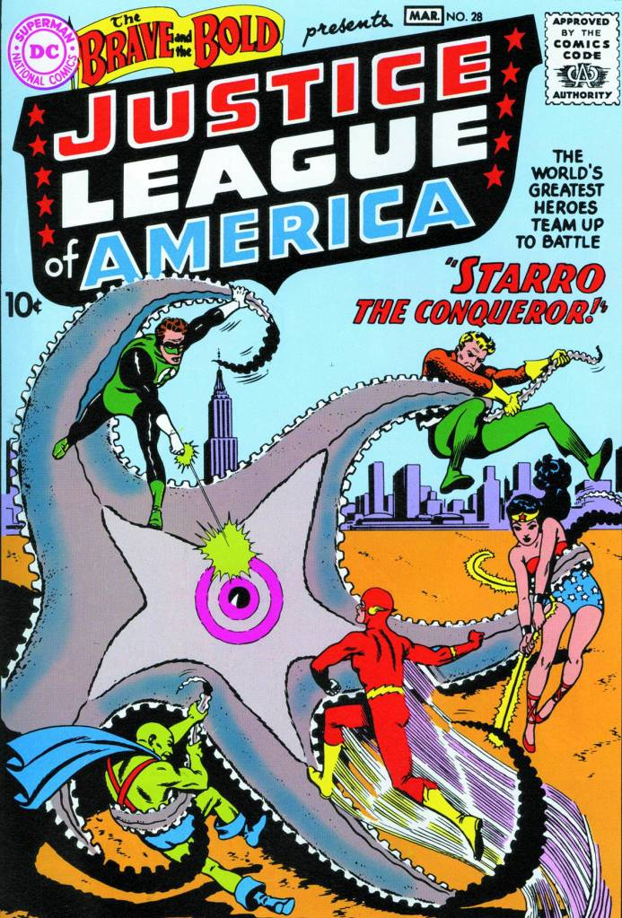 Starro first faces against the JLA!