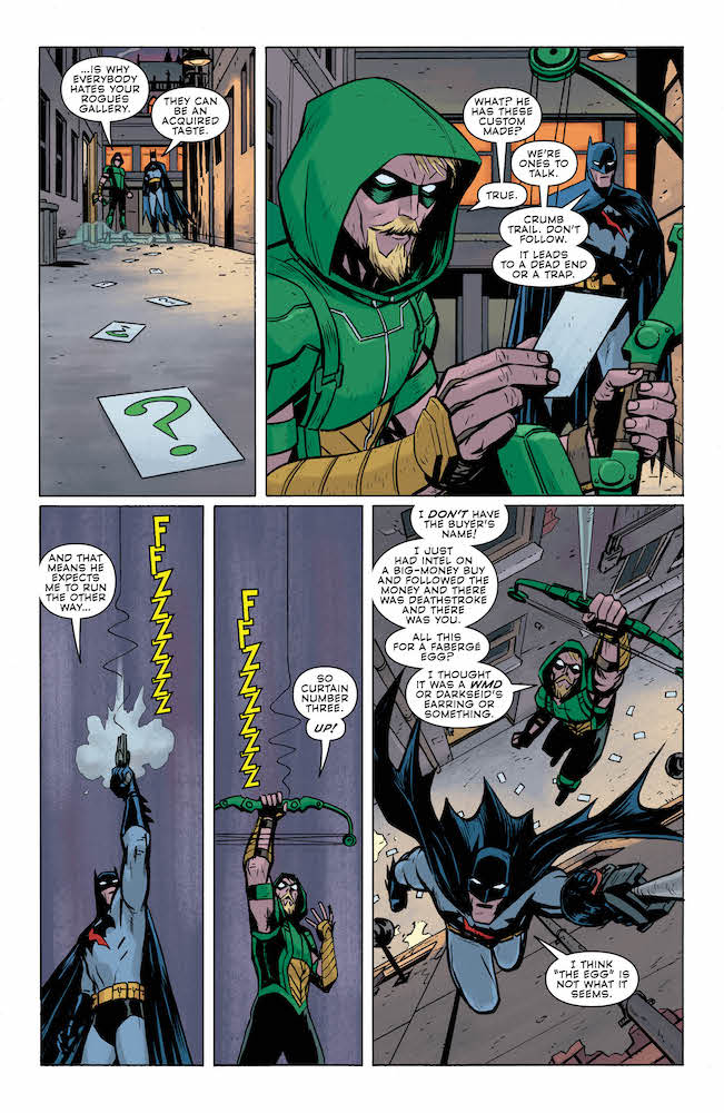 Green-Arrow-Batman-Rogues-Riddler-Question-Clues