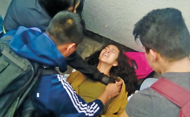 Asaltantes balean a adolescente en el paradero del Metro Cuatro Caminos