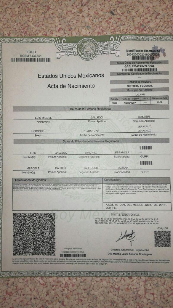 Vistoso Certificado De Nacimiento Del Estado De Mississippi Adorno ...