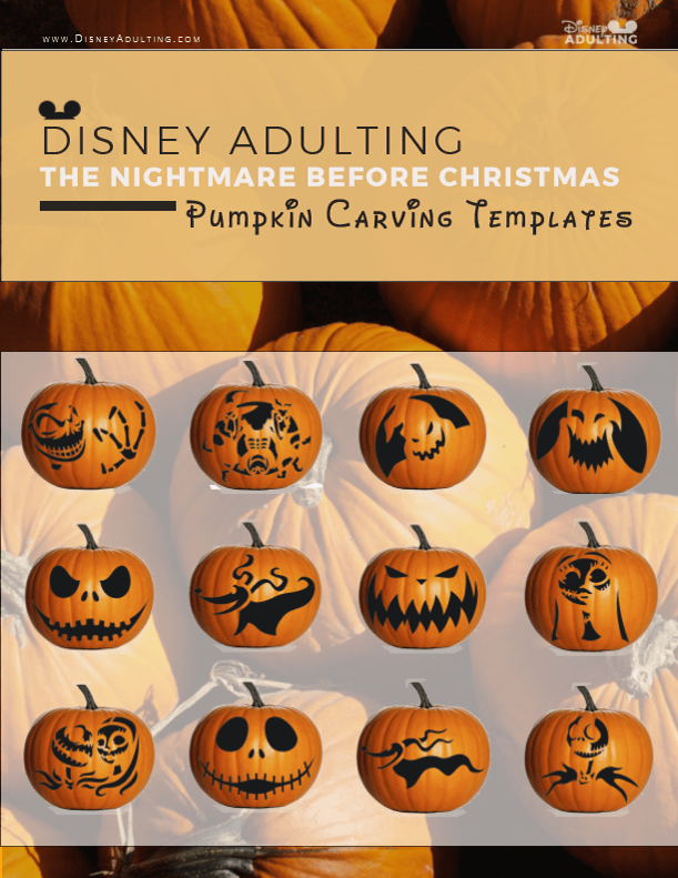 picture relating to Disney Pumpkin Carving Patterns Free Printable referred to as The Nightmare Right before Xmas - Pumpkin Carving Templates