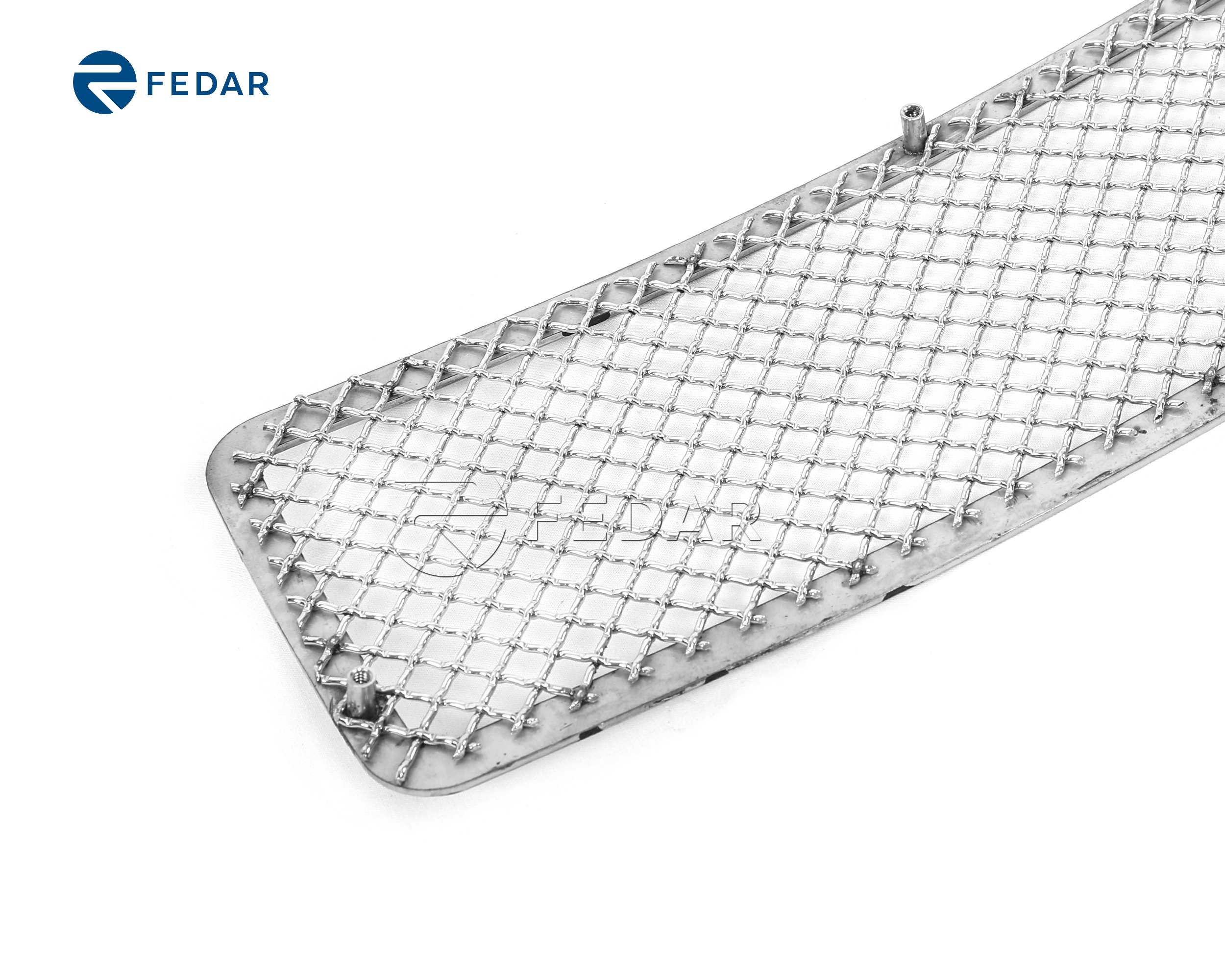 Fedar Fits Ford F250 F350 7pc Polished Wire Mesh